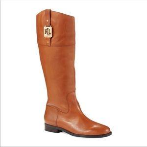 Ralph Lauren Leather Jaden New Boots